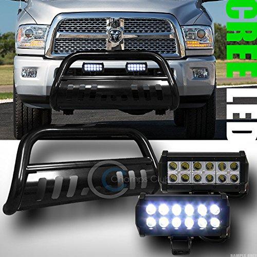 BLK BULL BAR BUMPER GRILL GUARD36W CREE LED FOG LIGHTS 2010-2014 RAM 25003500