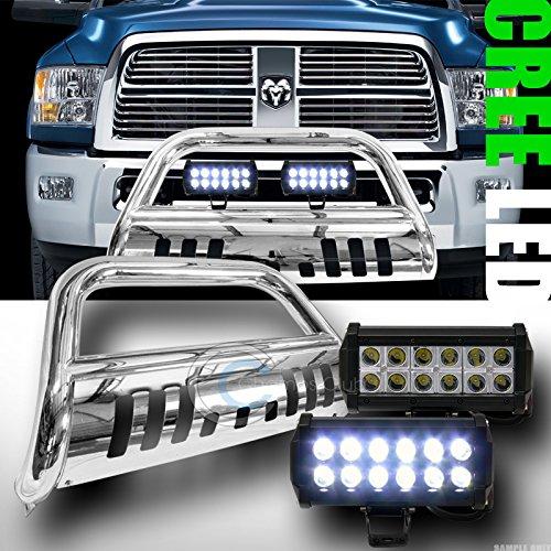 CHROME BULL BAR BUMPER GRILL GUARD V236W CREE LED FOG LIGHTS 2009-2014 RAM 1500