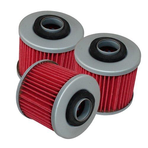 Caltric 3-PACK Oil Filter Fits YAMAHA XT 660 R XT660R XT-660R 2004-2014