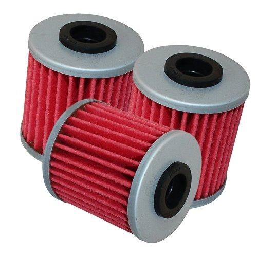 Caltric 3-PACK Oil Filter Fits SUZUKI 250 450 RM-Z250 RM-Z450 RMX450Z 2004-2013