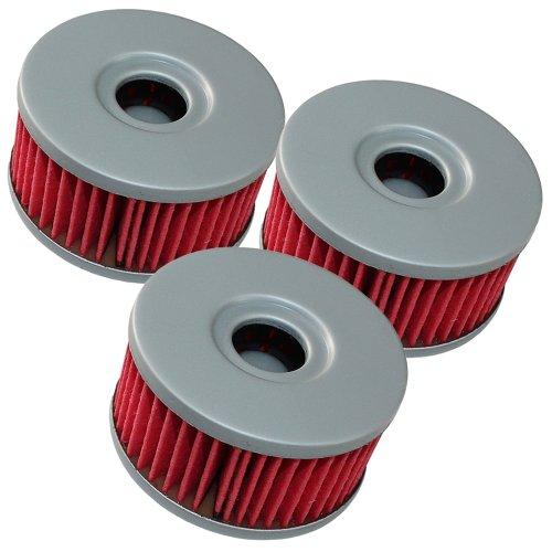 Caltric 3-PACK Oil Filter Fits SUZUKI 250 GN250 GN-250 1982 1983 1985 1988
