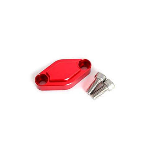 NICECNC Red CNC ATV Parking Brake Block Off Plate for RAPTOR 250R350506607009080YFZ450RXGRIZZLY 12580YFM100200225250350ER MOTO-4YFA125 BREEZE BANSHEE BLASTERWARRIOR
