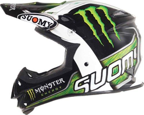 Suomy Mx Jump Monster Energy Helmet (black/green/white, Large)