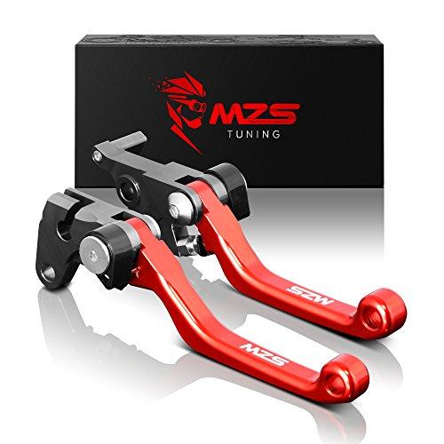 MZS CNC Pivot Brake Clutch Levers for Honda CR125RCR250R 2004-2007CRF250RCRF450R 2004-2006CRF250X 2004-2017CRF450X 2005-2017 Red