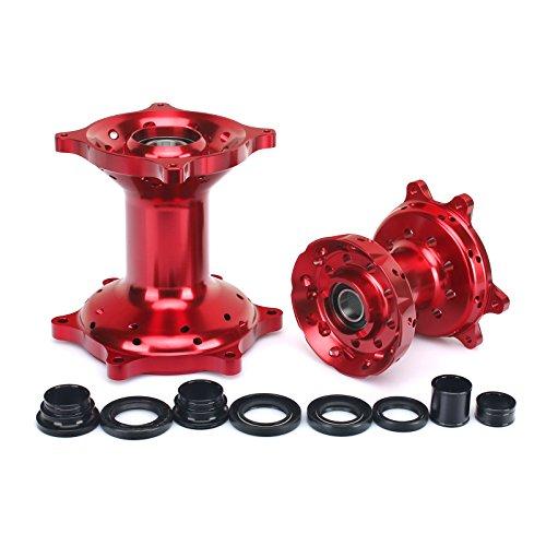 TARAZON Red Billet CNC Wheel Front Rear Hub Set for Honda CRF250X CRF450X 2004-2016 CR125 CR250 2002-2007 CRF250R CRF450R 2004-2012