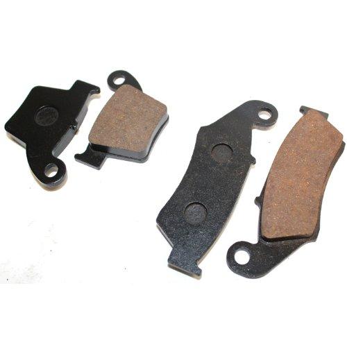 Caltric FRONT REAR BRAKE Pads Fits HONDA CRF250 CRF 250 CRF250R CRF 250R 2004-2017 FRONT REAR Pads