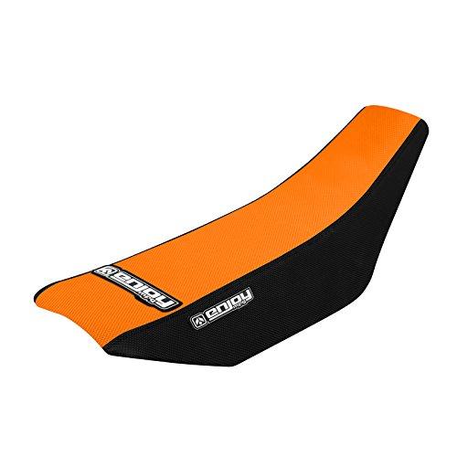 Enjoy MFG 2002 - 2008 KTM SX 50 Black Sides  Orange Top Full Gripper Seat Cover - Team Issue