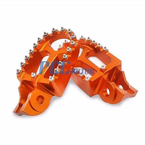 12Z CNC RACING FOOTPEGS FOOT PEGS KTM SX 125 150 XCF 250 350 450 2016-17 FP04 ORANGE