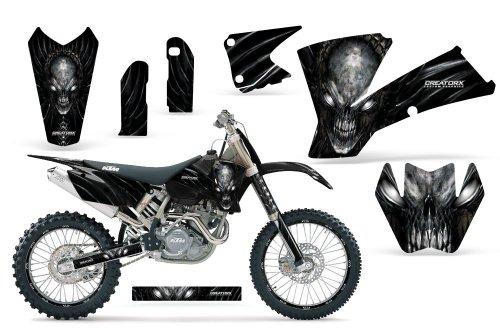 CreatorX Ktm Exc Xc Sx 125250450525520 Graphics Kit Skull Chief Silver Incl Number Plate Rim Graphics