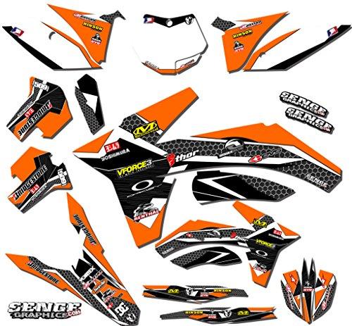 Senge Graphics 2017 KTM SX 125150250 Podium Orange Graphics Kit