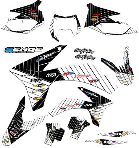 Senge Graphics 2017 KTM SX 125150250 Race Series White Graphics Kit