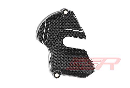 2014 - 2016 KTM Super Duke  RC8  RC8R  1190 Adventure  1290 Super Adventure Carbon Fiber Front Sprocket Cover Exposed Center Design