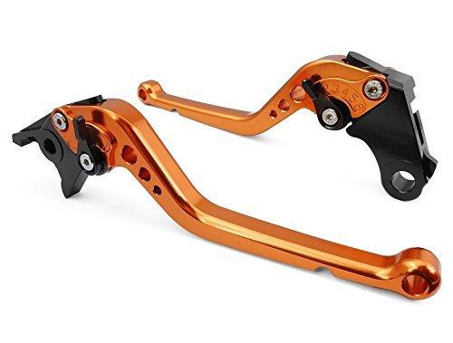 USL-147 Long Adjustable Motorcycle Brake and Clutch Levers for KTM RC8 RC8R 2009-2015-Orange