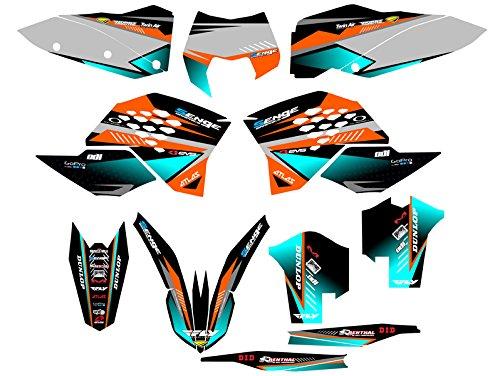 Senge Graphics 2008-2010 KTM XCF Surge Orange Graphics Kit