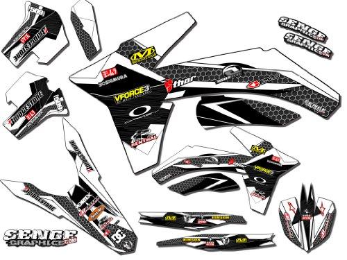 Senge Graphics 2011-2012 KTM XCF Podium White Graphics Kit
