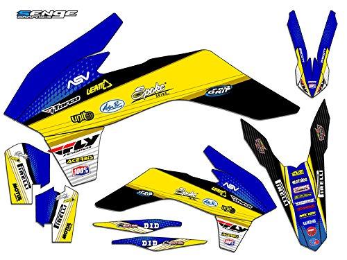 Senge Graphics 2011-2012 KTM XCF Ricochet Blue Graphics Kit
