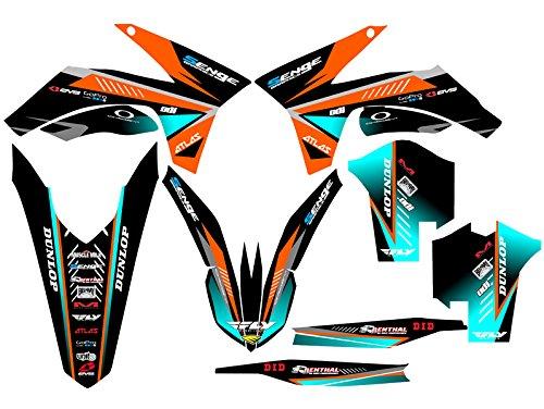 Senge Graphics 2011-2012 KTM XCF Surge Orange Graphics Kit