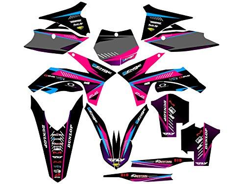 Senge Graphics 2011-2012 KTM XCF Surge Pink Graphics Kit