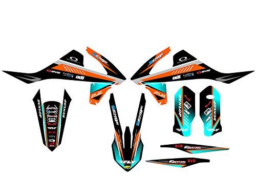 Senge Graphics 2016-2017 KTM XCF Surge Orange Graphics Kit