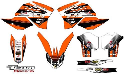 Team Racing Graphics kit for 2008-2010 KTM XCF ANALOG Base kit