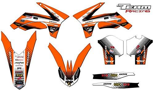 Team Racing Graphics kit for 2013-2015 KTM XCF ANALOG Base kit