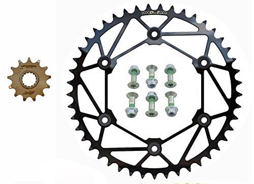 Dirt Tricks Ironman Front Zirconium BLACK Rear Sprockets Kit - 1548 - Husaberg  Husqvarna  KTM