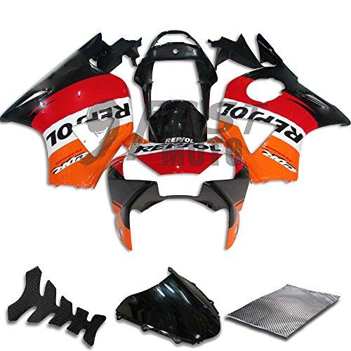 9FastMoto Fairings for honda 2002 2003 CBR900RR 954 02 03 CBR900 RR 954 Motorcycle Fairing Kit ABS Injection Set Sportbike Cowls Panels Orange Black H0612
