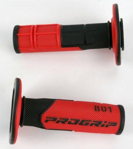 Pro Grip 801 Hybrid Duo-Density Cross Grips BlackRed 801BLKRED