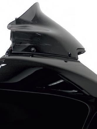 Klock Werks 9 Black Sport Flare Windshield
