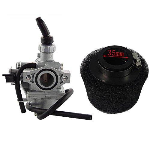 ZXTDR Mikuni VM16 19mm Carburetor 35mm Foam Air Filter for 50cc 110cc 125cc Pit Dirt Bike