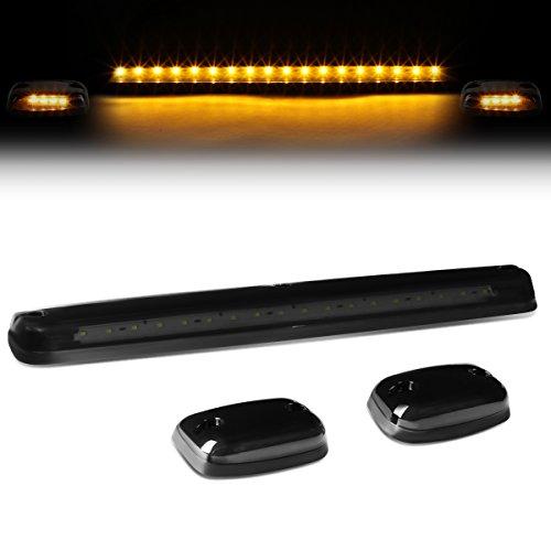 DNA Motoring CBL-CSIL07-SM-Y LED Cab Roof Top Lens Center Light  Pair Side Lamps