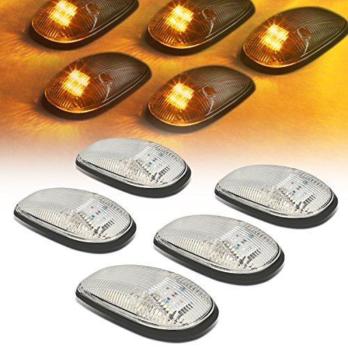 DNA Motoring CBL-DR99-CH-Y LED Cab Roof Top Marker Lights X 5