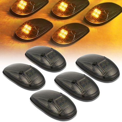 DNA Motoring CBL-DR99-SM-Y LED Cab Roof Top Marker Lights X 5