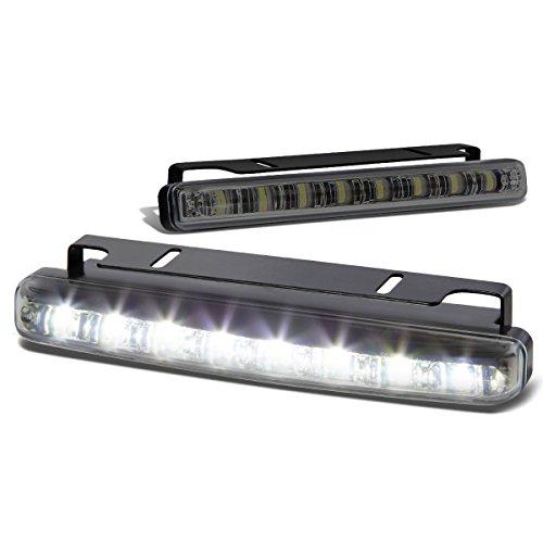 DNA Motoring FL-LED-8-SM LED Silm Daytime Running Fog Lights White