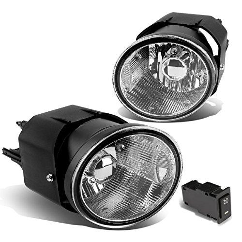 DNA Motoring FL-ZTL-202-CH Driving Fog Lamps  Switch Driver Passenger Side