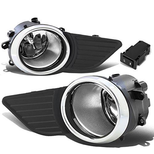 DNA Motoring FL-ZTL-221-CH Pair of Driving Bumper Fog Lights 11-17 Toyota Sienna
