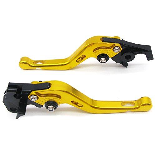 1 Set Front Brake Clutch Handle LeversECLEAR Motorcycle Adjustable Brake Master Cylinder For Suzuki 600 750KATANA 1998-2006 DL650 V-STROM 2004-2010 - Golden