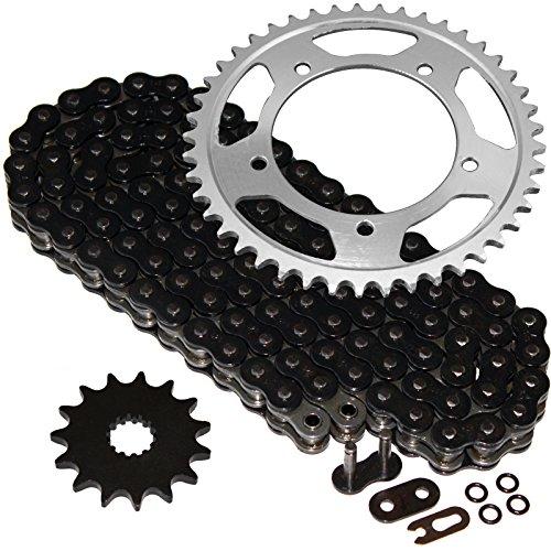 Caltric Black O-Ring Drive Chain Sprockets Kit Fits SUZUKI 600 GSX-R600 GSXR600 2001-2005