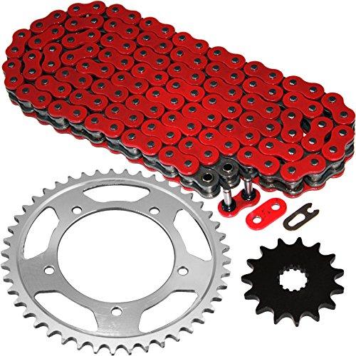 Caltric Red O-Ring Drive Chain Sprockets Kit Fits SUZUKI 600 GSX-R600 GSXR600 2001-2005