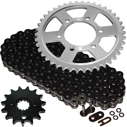 Caltric Black O-Ring Drive Chain Sprockets Kit Fits SUZUKI GSX-R1100W GSXR1100W GSXR 1100W 1993 1994