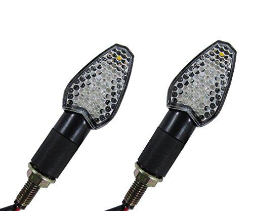 Suzuki GSXR 1000GSXR 1100 LED Mini Black Arrow Motorcycle Turn Signal Indicator Directional Lights FrontRear Pair