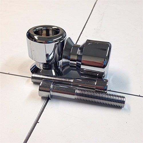 SMT GROUP Chromed ZXR Engraved 10MM Swingarm Spools For Kawasaki Ninja 250R 650R Zx 6R 9R 10R 12R 14R Zzr