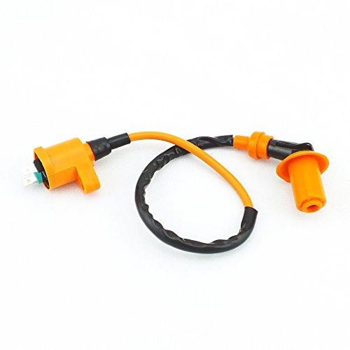 Qazaky Ignition Coil for Honda FL350R GB500 NB50 NB50M NH80 NH125 NQ50 NQ50D NX125 SB50 SE50 TR200 TRX125 TRX200 Racing Pit Dirt Bike