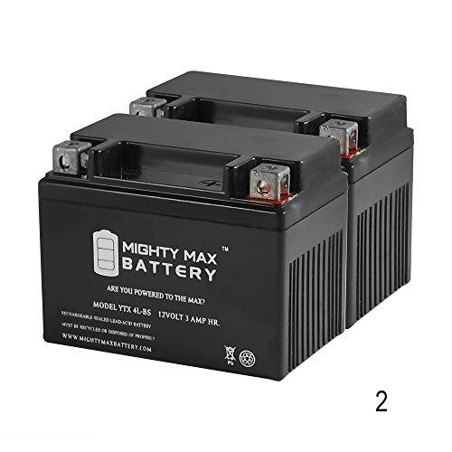 YTX4L-BS SLA Battery for Honda 50 AeroSpree Elite NQ50 SA50 - 2 Pack - Mighty Max Battery brand product