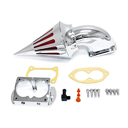Krator Motorcycle Chrome Spike Air Cleaner Intake Filter For 2002-2003 Kawasaki Vulcan 1500 Mean Streak