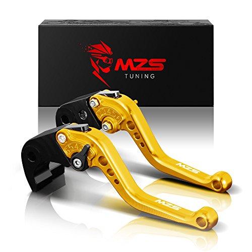 MZS Short Brake Clutch Levers for Yamaha FAZER 600 1999FZ1 FAZER 2006-2013FZ6 FAZER 2004-2010FZ6R 2009-2015FZ8 2011-2015MT-07FZ-07 2014-2017 Gold