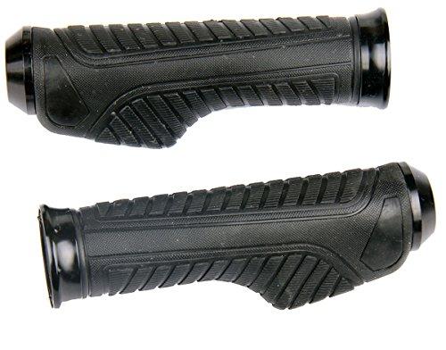 Black Aluminum Handlebar Gel Hand Grips W End Cap for 2001 Yamaha FZ1