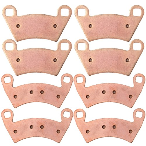 Brake Pads ECCPP Automotive Replacement Front and Rear Sintered Brake Pads for Polaris Ranger 500 2x4 Carb RZR-4 900 XP 800 4x4