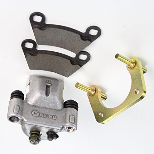 Niche Industries 1830 Polaris RZR 4 800 Rear Left Brake Caliper Pads Mounting Bracket 2010-2014
