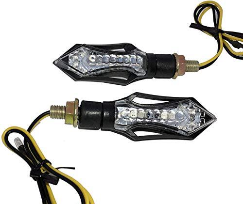 MotorToGo One Pair Black Flasher Free LED Turn Signals Blinkers for 2005 Yamaha FZ1